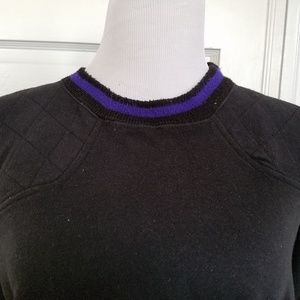 Steeple Chase 2X Sweatshirt Black with Purple Trim